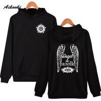 Aikooki Supernatural Angel And Hunter Hoodies Men Women Hoodie And Sweatshirt Men Hoody Brand Fashion Clothing