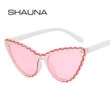 SHAUNA Fashion Cat Eye Sunglasses Women