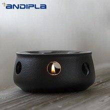 Японский стиль Черный дзен грубая керамика чайник теплее база керамический подсвечник изоляционная база Кофе Молоко теплее аксессуары