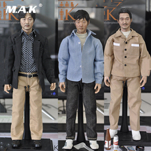 Full set 1/6 scale KUMIK KMF040 KMF041 KMF042 Scale Asian Male head body Action Figure Collections With box