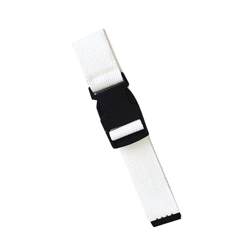 Adults Adjustable All-Match Belt Unisex Korean Style Canvas Belts Vintage Plastic Buckle Elastic Solid Color Long Waistband - Цвет: Белый