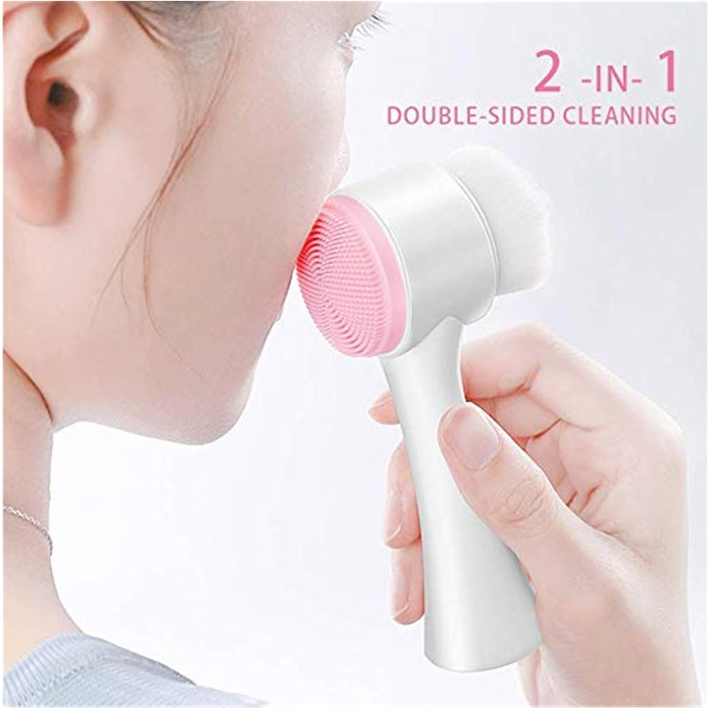 1PC Portable 3D Double Side Multifunctional Face Brush Skin Cleaner Face Washing Machine Exfoliator Facial Cleaning Brush
