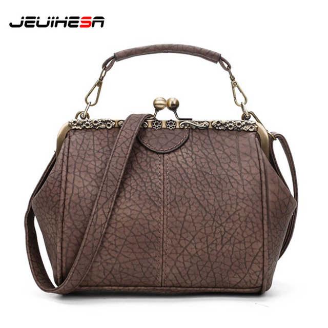 US $17.09 45% OFF Women Leather Handbags Retro Women'S Bags Clip Female Bag Shoulder Messenger Bag Female Crossbody Bags For Women Bolsas Feminina in
