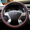 High quality Leather steering wheel cover car styling steering-wheel for ford focus chevrolet vw passat toyota corolla camry