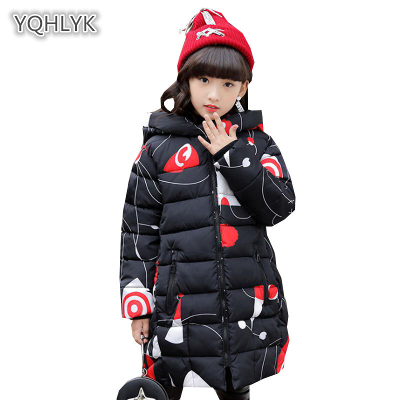 Children winter girl cotton coat fashion hooded warm print cotton Thicken children clothing long kids Parker Outerwear & Coat children new winter girl coat fashion hooded warm down jacket thicken girl cotton long parkas coat cotton outerwear