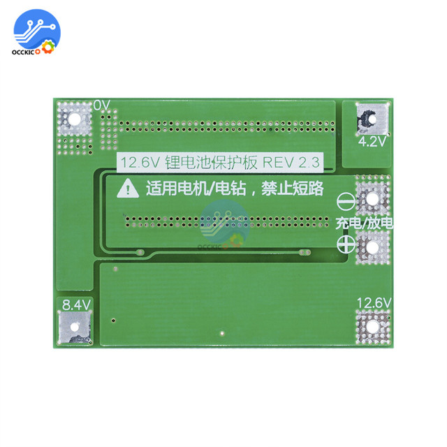 3S 40A BMS Lithium Battery Protection Board Enhanced Balance version 18650 Li-ion battery charger Circuit board 11.1V 12.6V 5