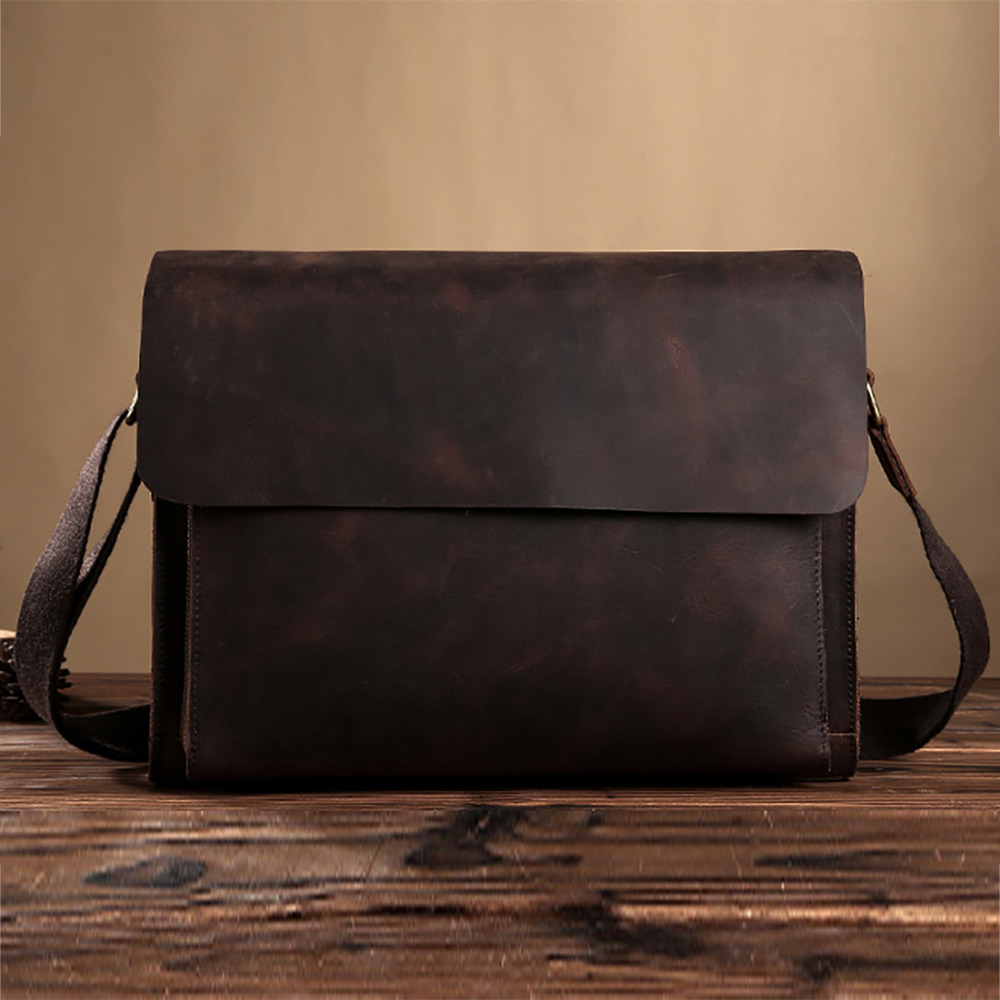 Подробнее о Crazy Horse Cowhide Vintage Business Briefcase Genuine Leather Men Laptop Shoulder Bag Famous Brand Cross Body Messenger Bags high quality genuine leather men business shoulder bag famous brand cross body messenger bags cowhide handbag tote briefcase new