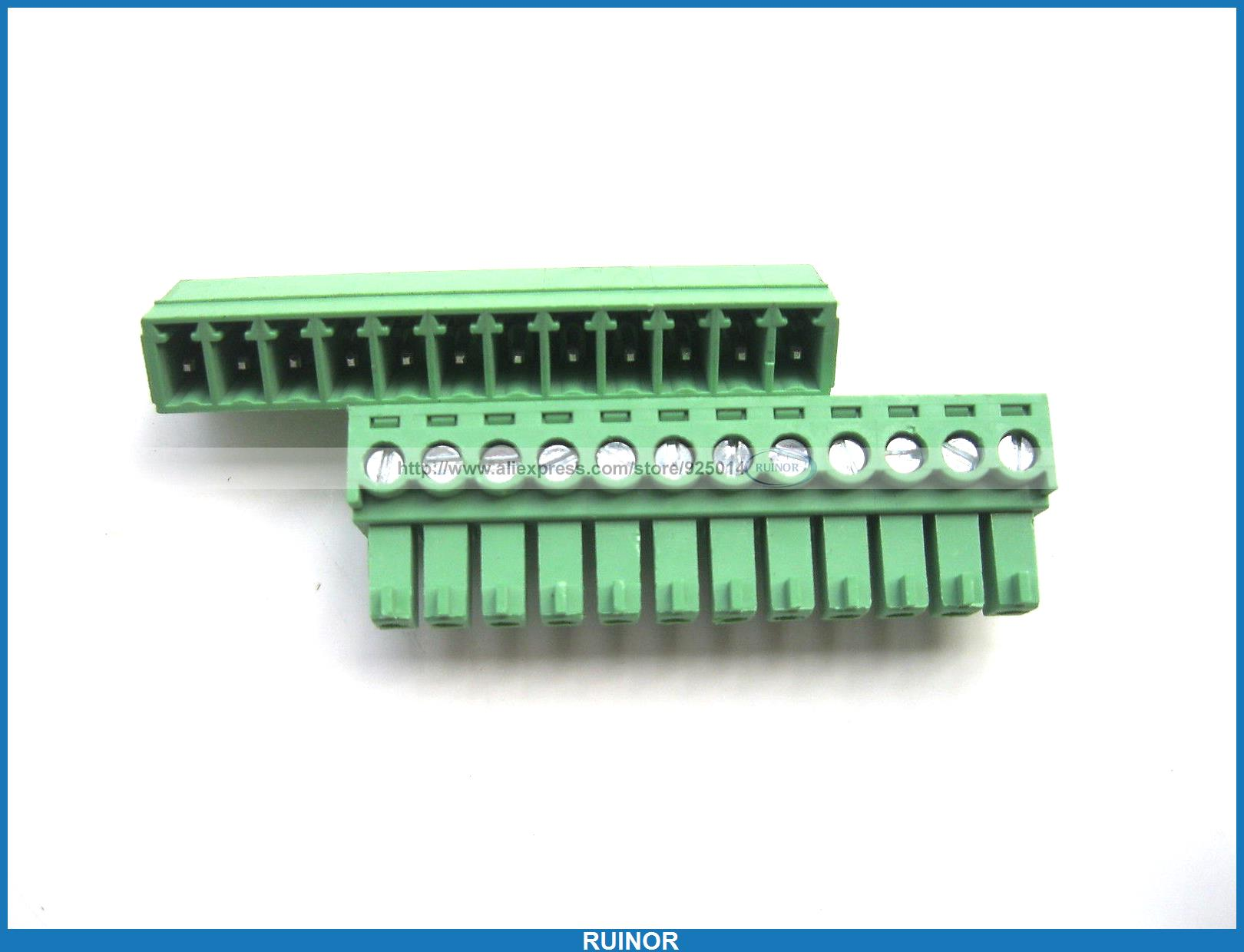 30 Pcs Screw Terminal Block Connector 3 81mm 12 Pin Green Pluggable Type 30 pcs 5 08mm angle 16 pin screw terminal block connector pluggable type green