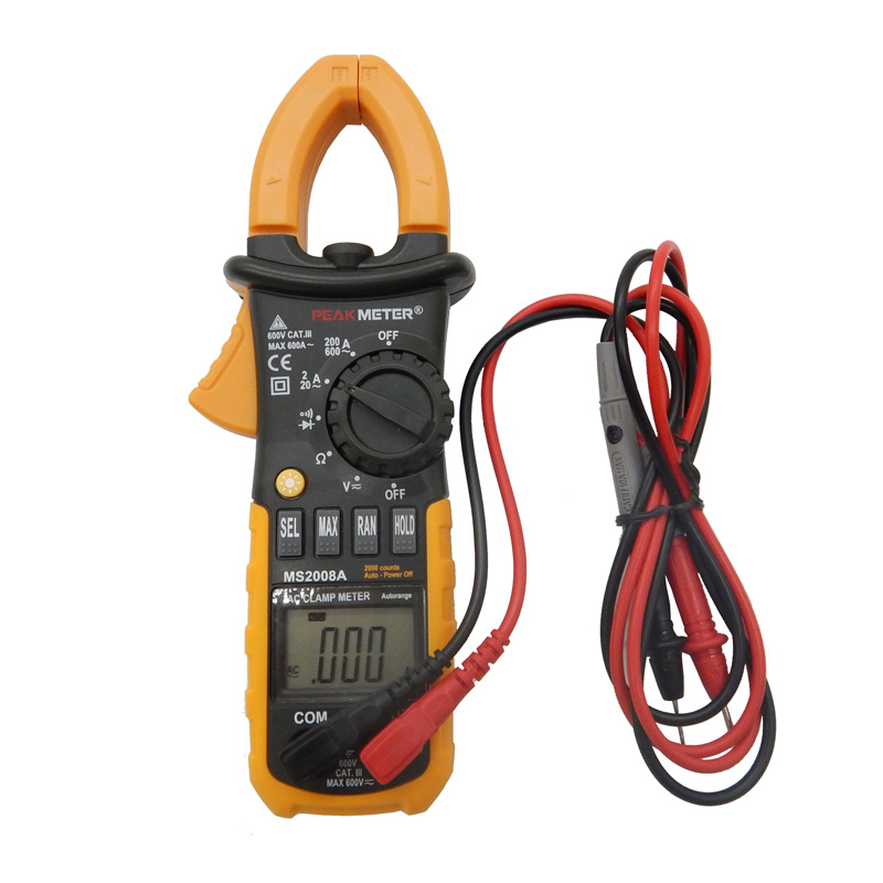 HYELEC MS2008A Professional digital AC Clamp meter w/2F Back Light Multimetro Clamps Leakage 2000 Counts