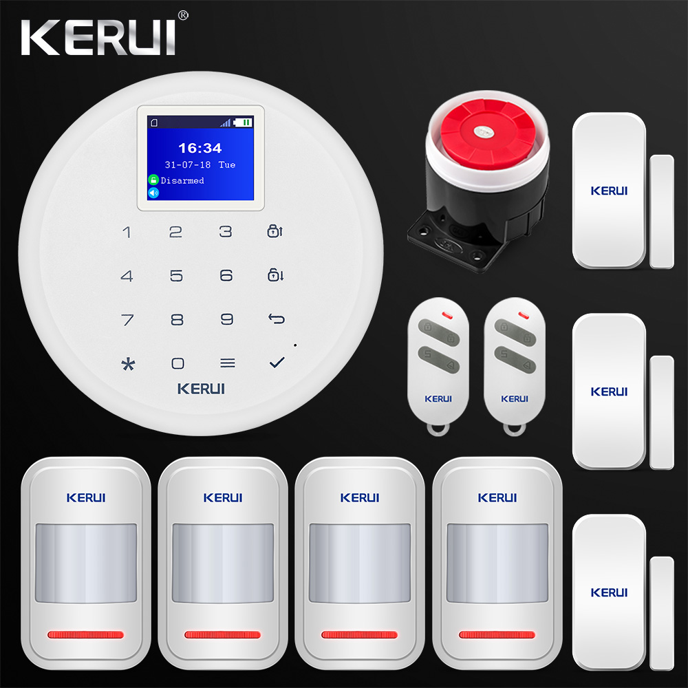 New 1.7-inch G17 Android IOS APP Control GSM Home Security Alarm System PIR Motion Door Sensor Siren Remote Control fuers wireless home security gsm wifi sim alarm system ios android app remote control rfid card pir door sensor siren kit