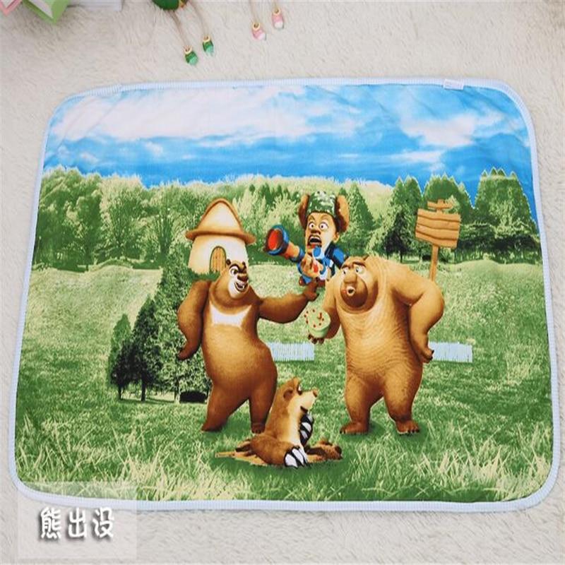 2018 rajzfilm csecsemő pilch pelenka pad baba változó szőnyeg pamut bébi piszoár pad vízálló lélegző változó pad  t