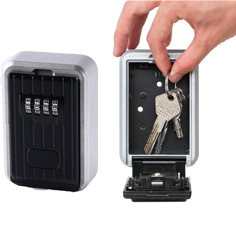 2020 Key Safe Box Home Factory Office Outdoor Key Storage Box Wall-mounted Password Combination Security Keys Hold Lock Safes
