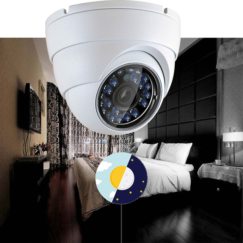 Image 5 - IP Dome Camera 720P 1080P H.264+/H.265 HD Network Indoor IRC 24 LEDs Infrared NightVision ONVIF P2P CMS XMEYE-in Surveillance Cameras from Security & Protection