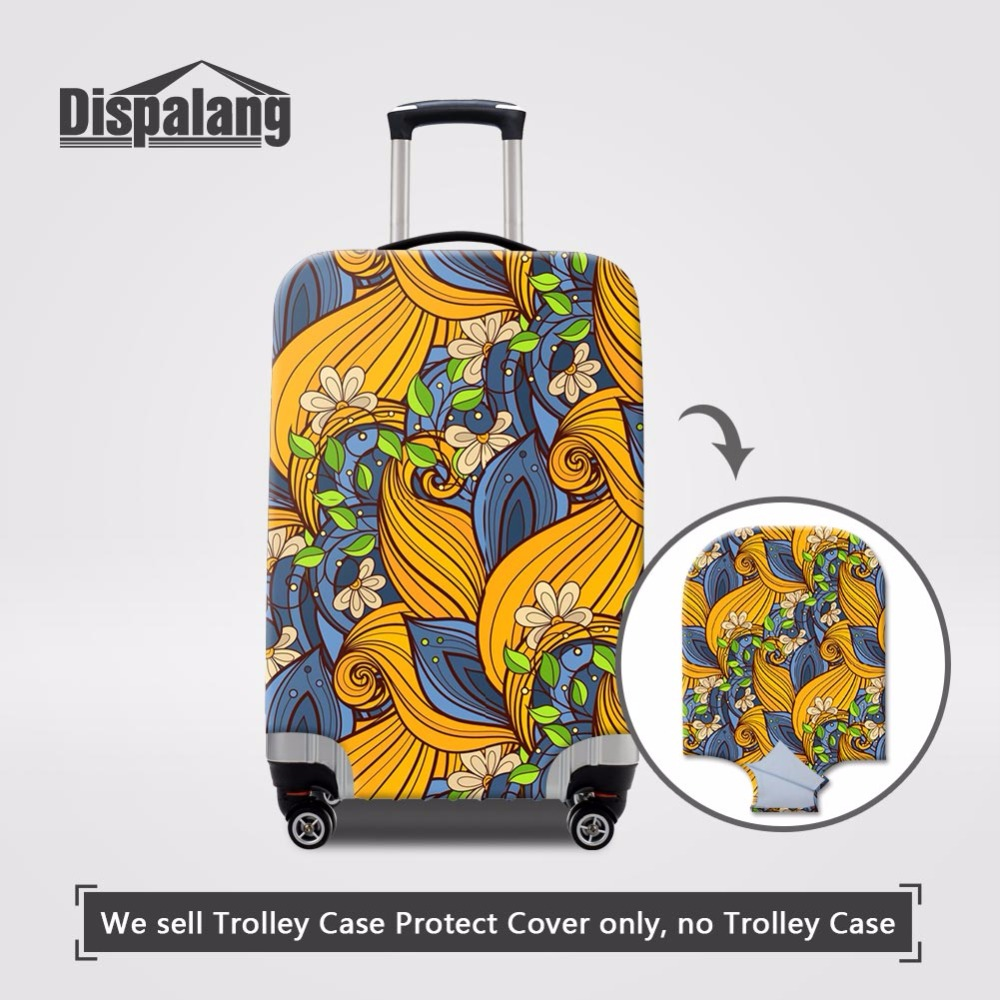 Abstract Flower Elastic Luggage Cover For 18 20 22 24 26 28 30 32 Inch Portable Dust Case For Suitcase Covers Travel Accessories