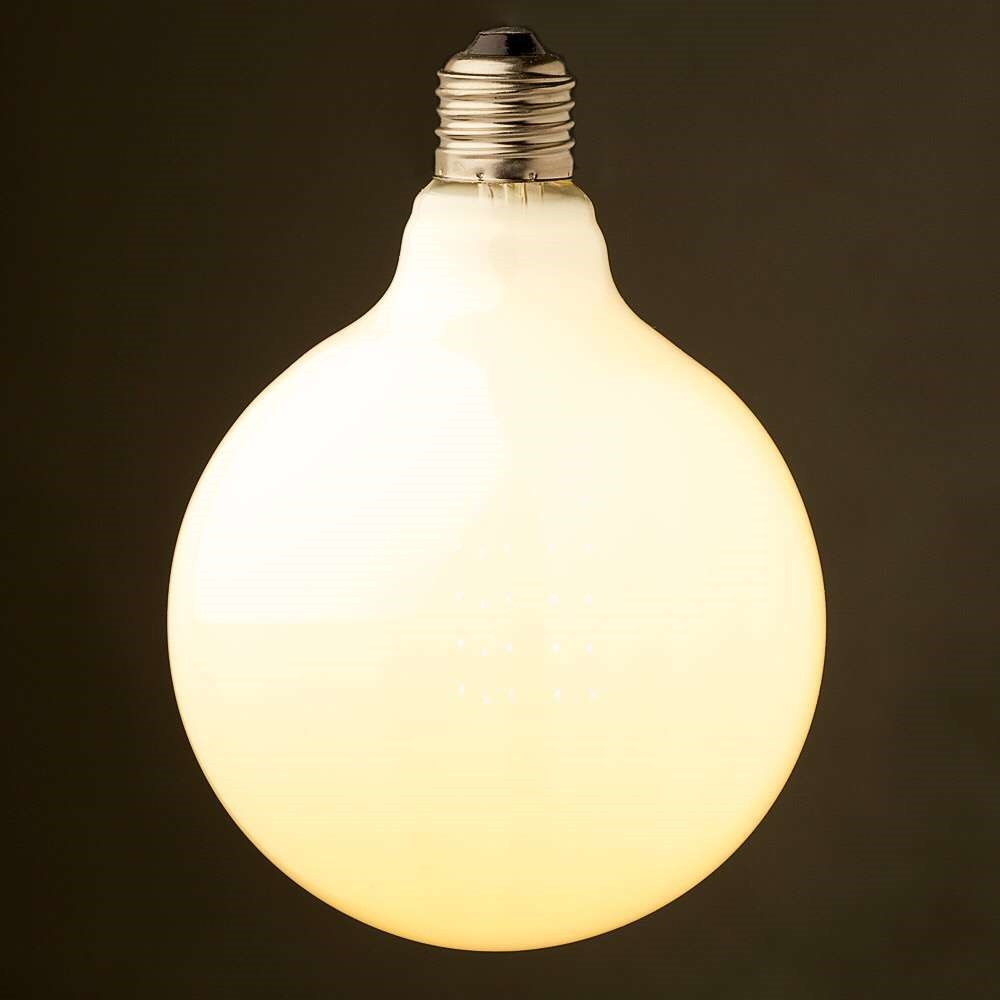 Vintage led filament light bulbedison g125 style golden tint vintage led filament light bulbedison g125 style golden tint milkfrosted6w8w16w2200ksuper warm110v 220vacdimmable in led bulbs tubes from arubaitofo Image collections