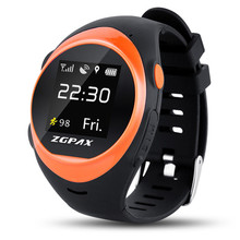 Sport Smart Watch for Elder Adult SOS Emergency call GPS Tracking Online Anti-lost Anti-falling Alarm for iOS and Android Phone