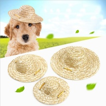 Hot Sale Pet Sombrero Hat Dog Cat Small Outdoor Accessories Hiking Products Small/Large Dogs Hats