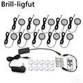 Ultra-dünne Dimmbare 12V LED Unter Schrank Lichter Kit Schwarz Schnur Aluminium led Puck licht Lampe für Küche zähler Schrank Beleuchtung
