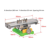 Precision X Y Compound Slide Table Milling Working Cross Vise Worktable Milling Machine Compound Drilling For Bench Drill