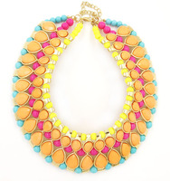 New 2014 Fashion Collar Beads Bubble Jewelry Acrylic Choker Necklace Luxury Statement Women For Evening Party