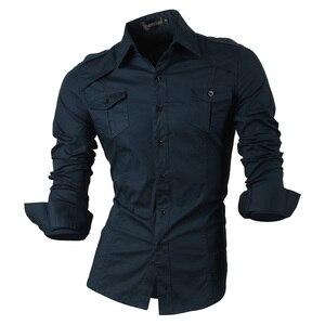 Image 3 - กางเกงยีนส์ฤดูใบไม้ผลิฤดูใบไม้ร่วงคุณสมบัติเสื้อผู้ชายกางเกงไม่เป็นทางการเสื้อใหม่มาถึงเสื้อแขนยาวสบายๆ SLIM FIT ชายเสื้อ 8001