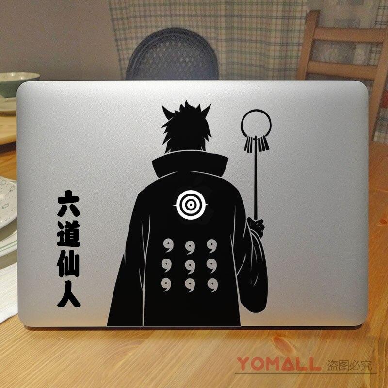 """Светящийся Hagoromo Sage Of Six Paths Наклейка для ноутбука Naruto для Apple Macbook Pro Air Retina 11 """"12"""" 13 """"15"""" Mac Acer для ноутбуков"""