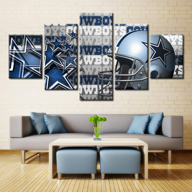 Us 23 88 Forbeauty Landscape Painting Canvas Printing Modern Home Wall Decor Picture For Livingroom Dallas Cowboys Helmet In