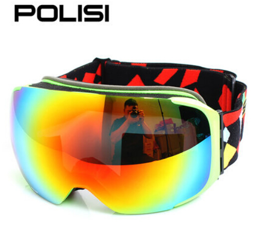 ФОТО POLISI Winter Skiing Goggle Men Women Replaceable Night Vision and Daytime Lens Eyewear UV400 Anti-Fog Snowboard Snow Glasses