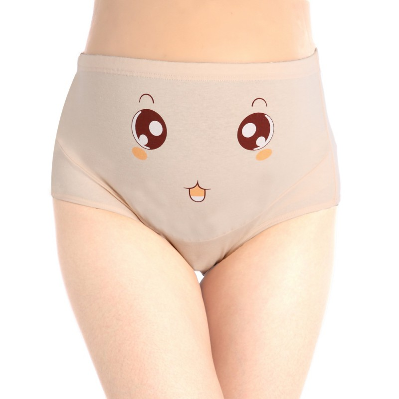 2ccbb388808 Cotton Panties High Waist Adjustable Waist Circumference Pregnant Women  Stomach Lift Panties Big Eyes Light Powder G8-in Leggings from Mother    Kids on ...