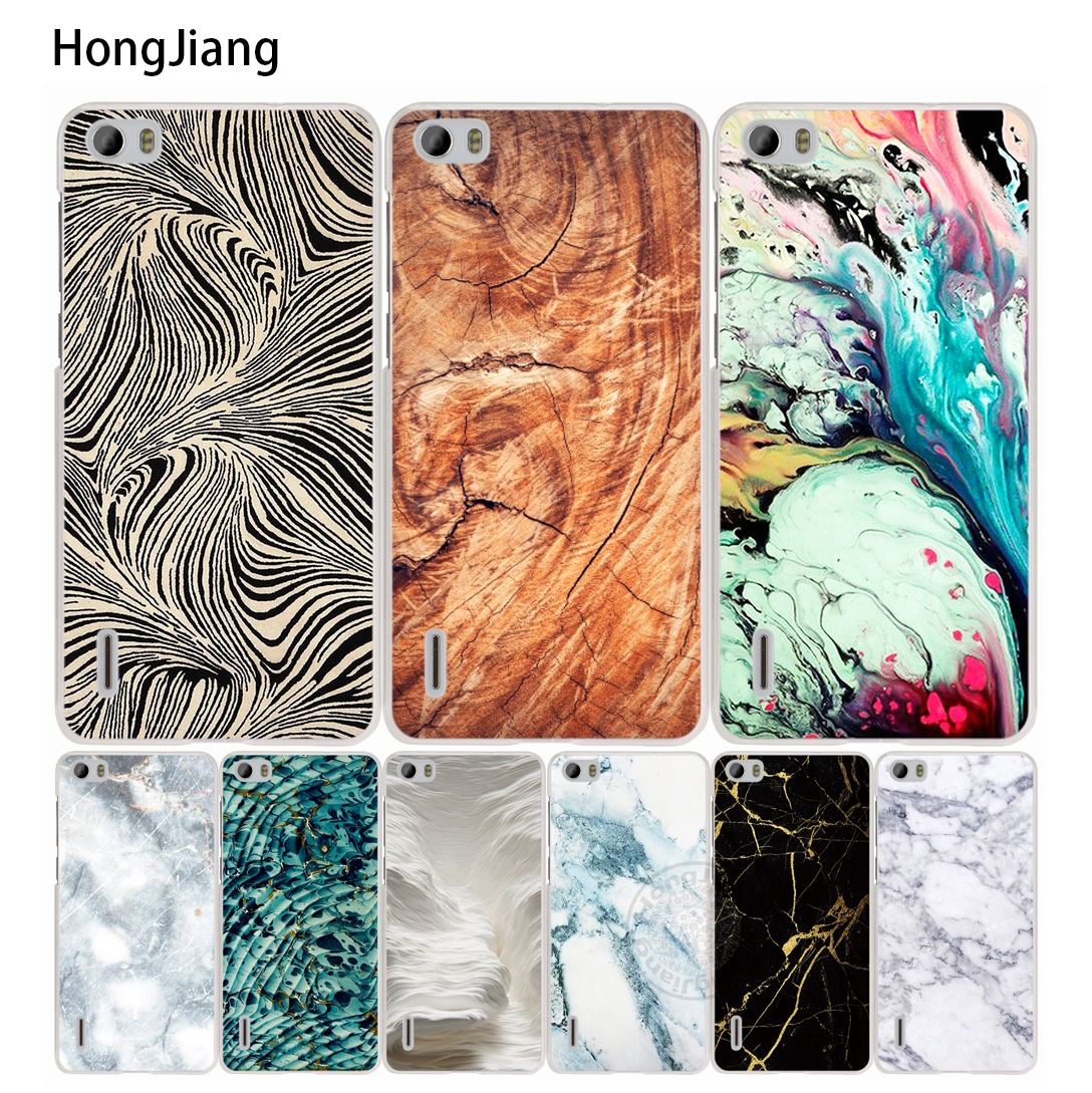 HongJiang Watercolor Marble Gold <font><b>cell</b></font> <font><b>phone</b></font> Cover Case for <font><b>huawei</b></font> honor 3C 4A 4X 4C 5X 6 7 8 <font><b>Y6</b></font> Y5 2 II