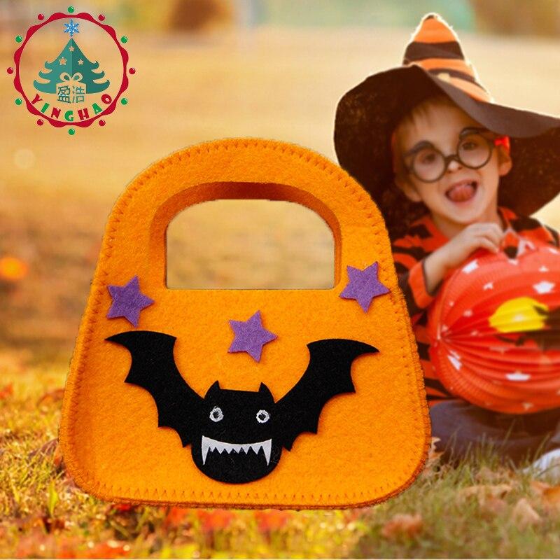 inhoo 2pcs Classic Bat ročne torbe bombonske torbe Halloween okrasne - Prazniki in zabave - Fotografija 5