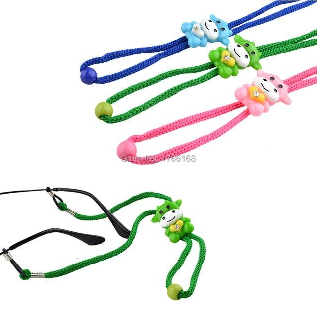 4b73c22547 Réglable enfants Nylon lunettes de soleil cordon coloré anti-dérapant enfant  lunettes sangle cou cordon