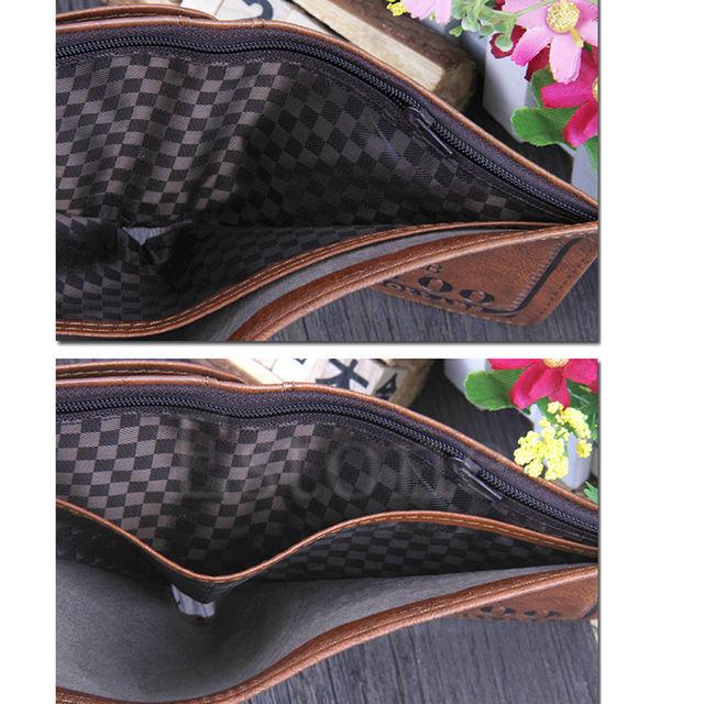 Hot New Design Short Fashion Letter Men US Dollar Bill Wallet Brown PU Leather Bifold Credit Card Photo Holder W1696
