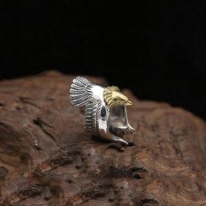 Image 5 - Eagle แหวน 100% 925 เครื่องประดับเงินแท้สำหรับชายหรือหญิงแฟชั่นบุคลิกภาพบุคลิกภาพของขวัญ GR15