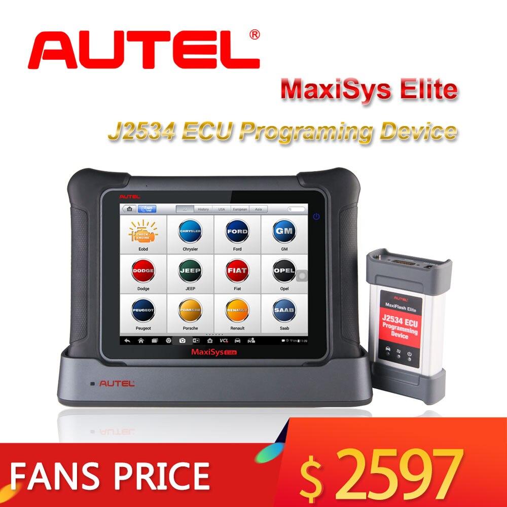 Outil de Diagnostic automatique Autel MaxiSys Elite J2534 programme ECU programmant l'outil de Scanner de Diagnostic de voiture OBD2 mieux que MS908