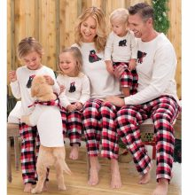 0f7e553cbb Family Set Christmas Pajamas Family Matching Outfits Look Daddy Mommy and Me  Clothes Plaid Bottom Pajamas Family Kid Clothing SS
