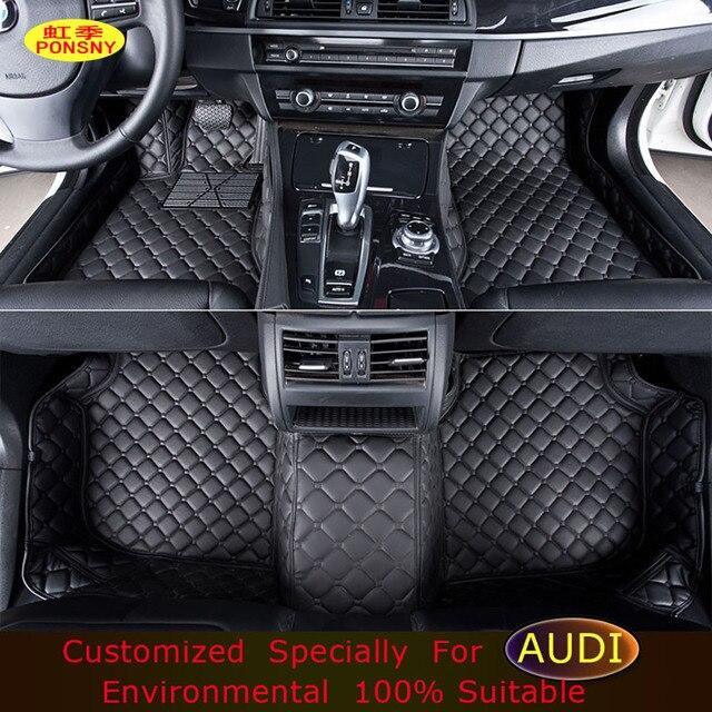 ponsny voiture tapis de sol pour audi a1 a3 a4 a5 a6 a7 a8 q3 q5 q7 tt car styling pied tapis. Black Bedroom Furniture Sets. Home Design Ideas