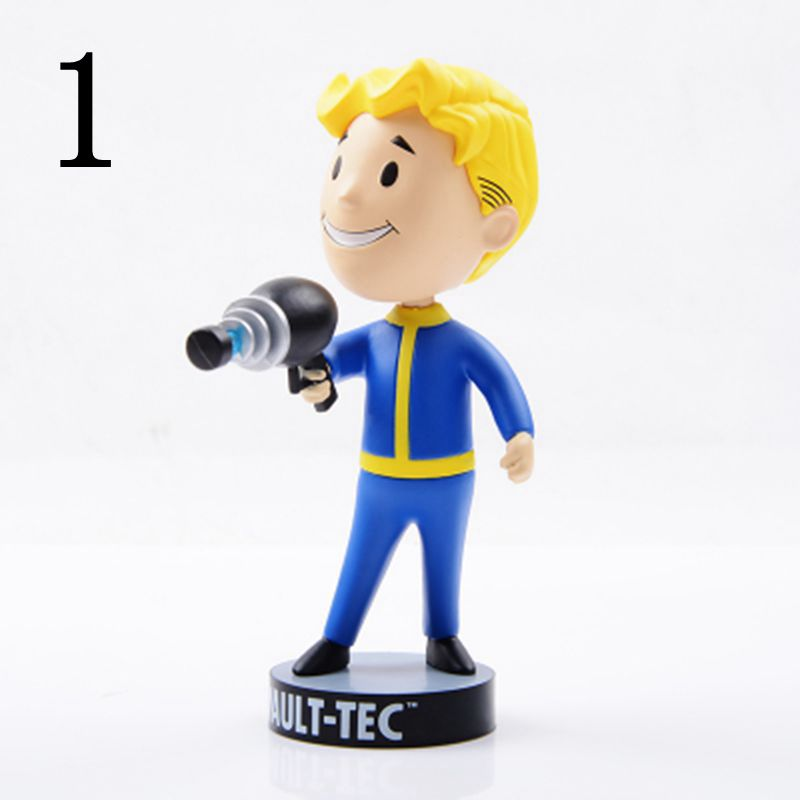 Gaming Heads Fallout 4 Vault Boy Bobbleheads Series Action Figure Toy For Kid Christmas Gifts