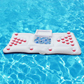 170*90cm 67inch Inflatable Beer Pong Table Pool Floats 28 Cup Hole 2017 New Stock Summer Water Party Fun Air Mattress Ice Bucket