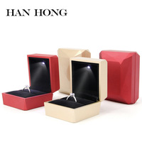 Free shipping 2019 new Proposal ring of high grade wedding led a diamond ring trinket necklace gift jewelry boxes