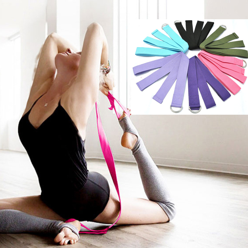 Yoga Belts Multi-colors Resistance Gym Rope Adjustable Sport Stretch Strap D-ring Belts Gym Waist Leg Fitness Bands Yoga Belt New Buy Now Sports & Entertainment
