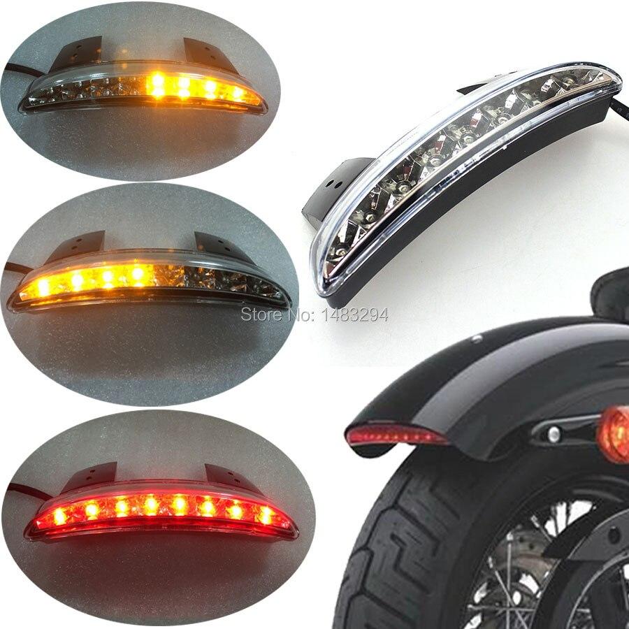 W  LED Flasher Clear Rear Chopped Fender Edge LED Tail Light W  Turn SignalFits For Harley Sportster 883 XL883N XL1200N Chopped