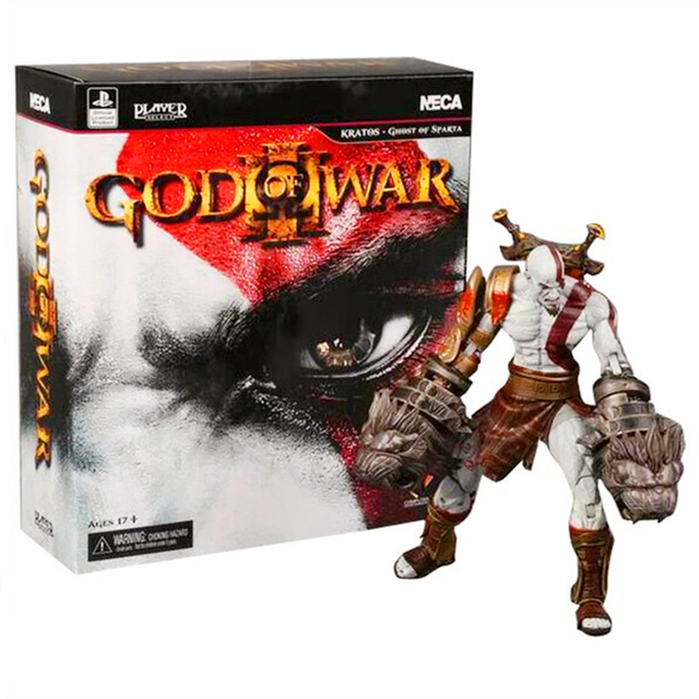 Neca god of war 3 kratos ghost of sparta pvc action figure collectible modelo toy 22 cm retail box wu677