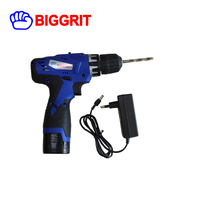 BIGGRIT 16.8V Cordless Drill 2 Lithium ion Battery Portable Drill impact electric wireless drill tool set