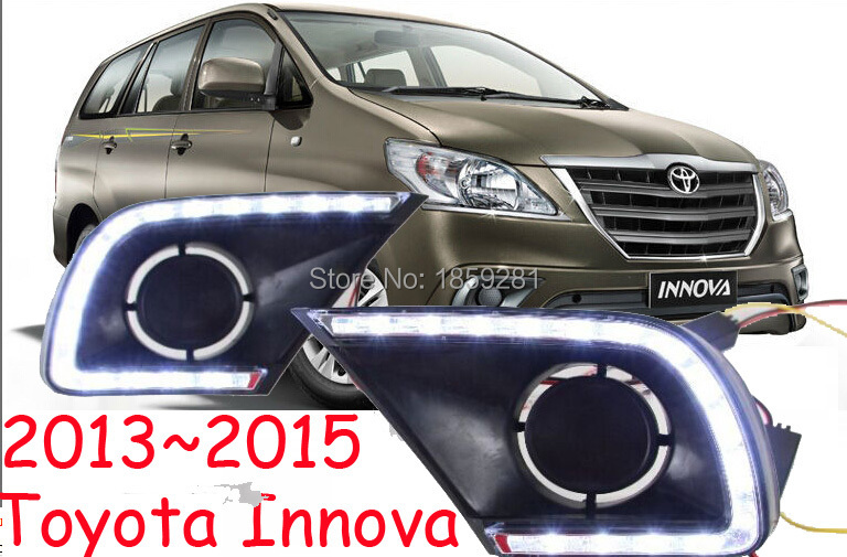 2013~2016 Innova daytime light,Free ship!LED,Innova fog light,2ps/set,corolla,camry,reiz,Prado,Yaris L,Levin 2013 2016 innova daytime light free