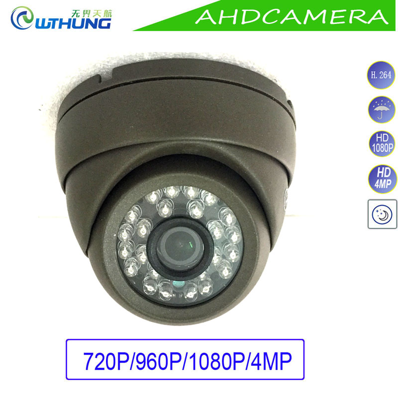 CCTV Dome Camera Metal Case AHD 1.0MP 1.3MP 2MP 4MP Indoor/Outdoor Waterproof IR Cut filter Night Vision For CCTV Security Cam cctv camera waterproof outdoor housing array led light cctv camera aluminium alloy metal case cover