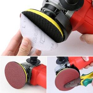 Image 5 - 100 pièces ponçage tampon polissage ponceuse disque 50mm 60 2000 grain papier + 1pc crochet boucle plaque ajustement Dremel 4000 électrique meuleuse Abrasive