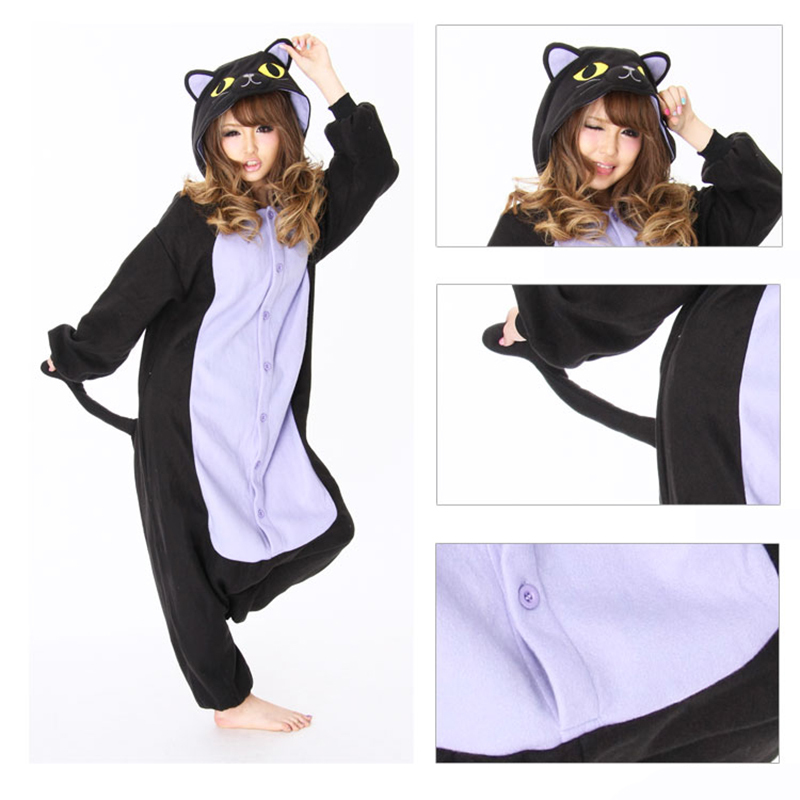5d74c7a1cf Detail Feedback Questions about Halloween cat woman pijama animal adult Costume  Spooky Cat Onesie Sleepwear Romper For women catwoman costume womens ...