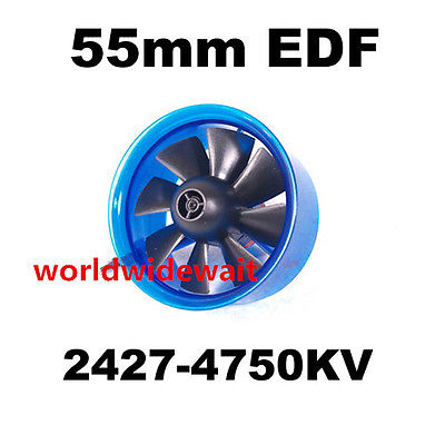 ФОТО New HL5508 2427 4750KV Motor EDF 55mm Ducted Fan for RC Aircraft Airplane
