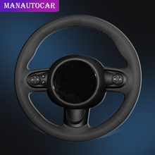 Car Braid On The Steering Wheel Cover for Mini Coupe Auto Leather Interior Accessories Car-styling